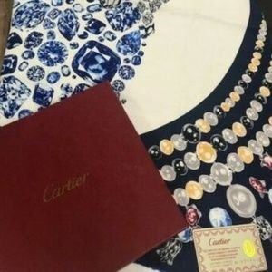 CARTIER Scarf Stole SILK Jewels Extraordinaire XL